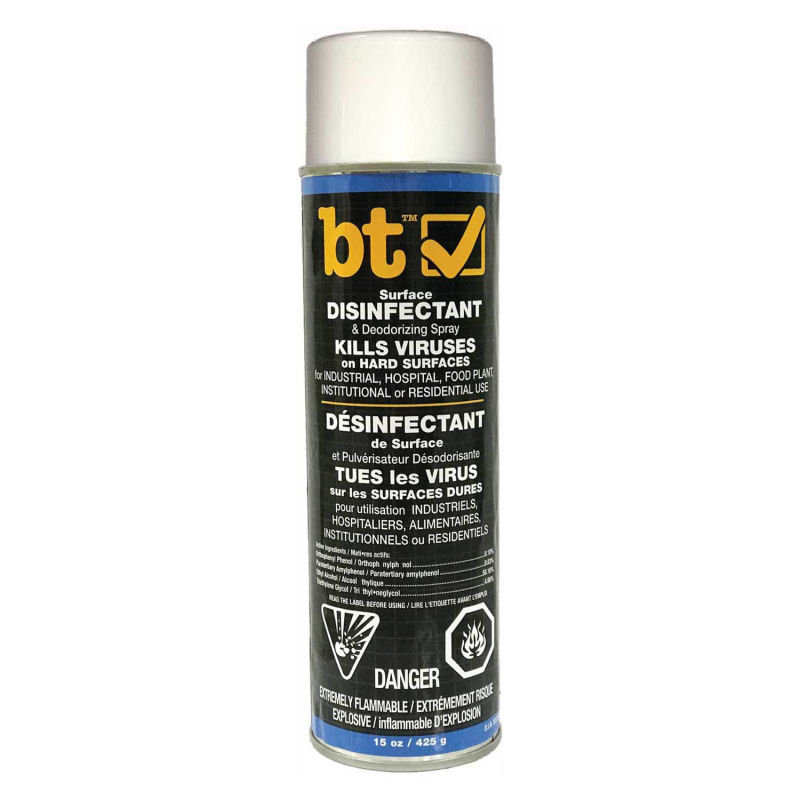 DISINFECTANT - BT SURFACE AEROSOL KILLS VIRUS ON HARD