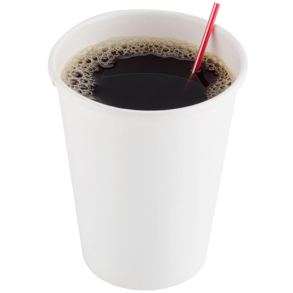CUPS - 8 OZ DIXIE HOT DRINK POLY-LINED PLAIN WHITE 1000/CS