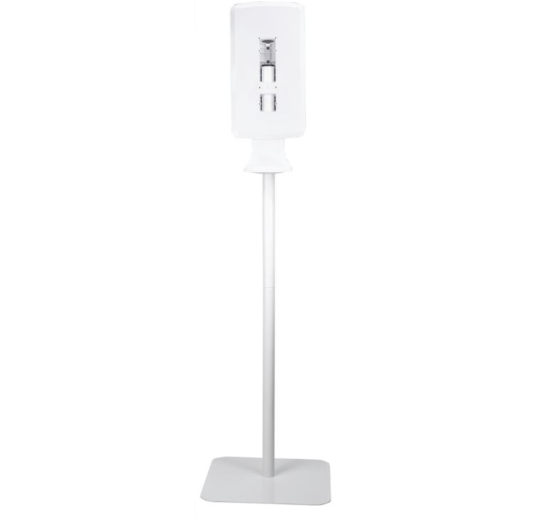 DISPENSER STAND - GENERIC SOAP & SANITIZER STAND WHITE