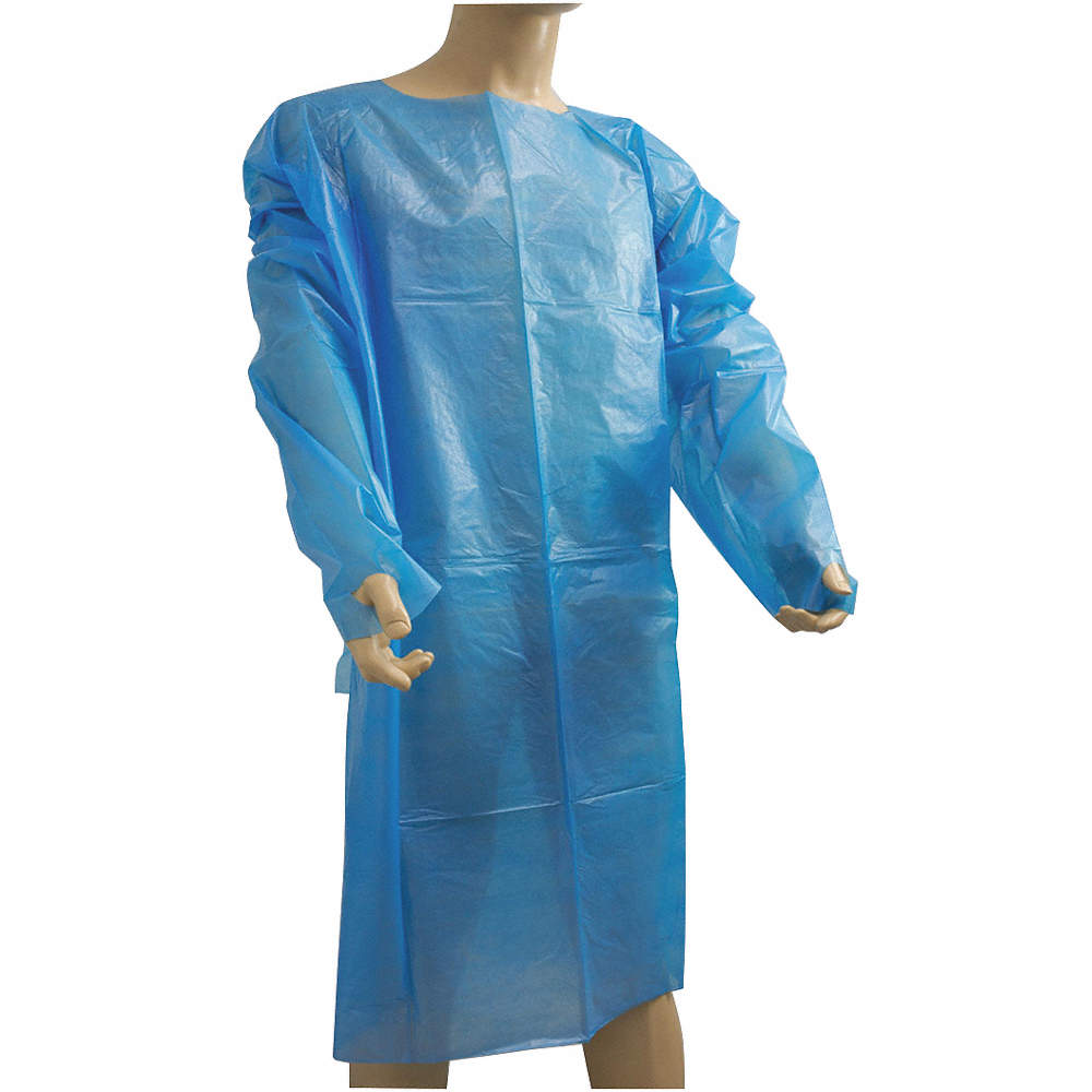 GOWN - BLUE POLYPROPYLENE ISOLATION GOWN FULL SLEEVE