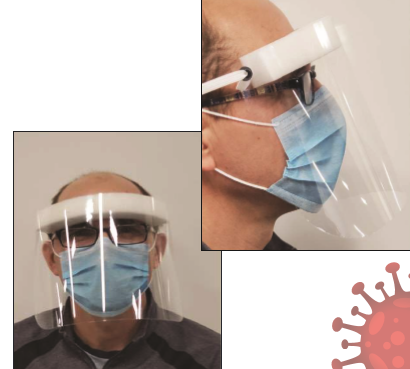 FACE MASK - MEDICAL FACE SHIELD PLASTIC 20/CS