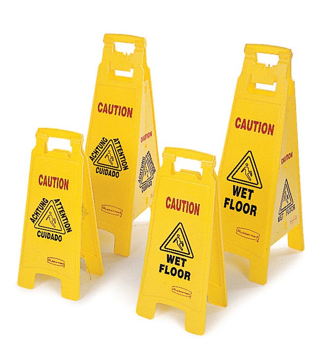 Wet Floor Signs, Pylons & Barricades